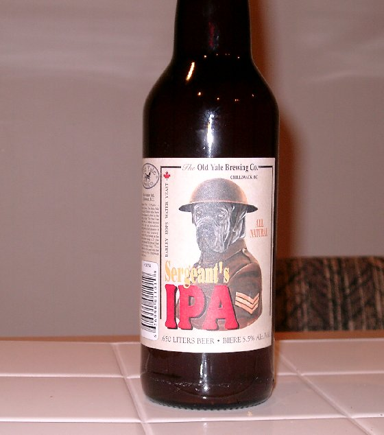 A bottle of IPA beer