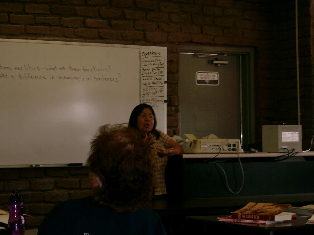 At the Navajo Language Academy 2004
