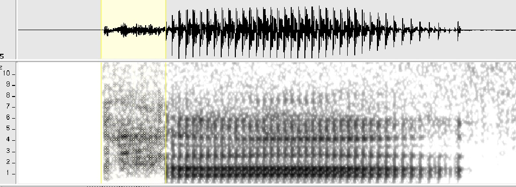 Acoustic analysis of the Thai syllable [tha]