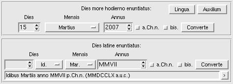 screenshot of the kalendae program